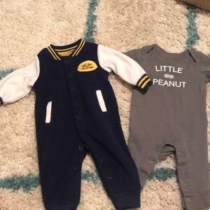 2 brand new 3 month outfits
